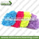 Popular Car Microfiber synthetic wool wash mitt/Microfiber Car Wash Washing Cleaning Gloves