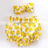 Summer fresh fruit cute girl bloomers baby underwear size for 0-2T
