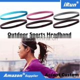 Snag Free Elastic Head Bands Flat Hairband Gym Stretch Band Accessories - Braided Headwear with No Slip Grip Factory Manufactory