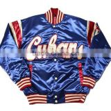 high quality wholesale satin baseball jackets