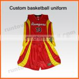 Runtowell 2013 basketball uniforms made in china / plain basketball uniforms / basketball uniform design