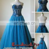 EB1330 Unique sweetheart design blue Fashion floor-length wedding dress petite bridal dress
