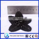 Handmade beaded flowers flat shoes yiwu beads five-pointed star shoes accessories accessories