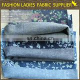 textiles 100%cotton denim fabric print denim fabric discharge print