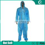 Factory Wholesale PP Nonwoven Waterproof Safety Disposable Coverall