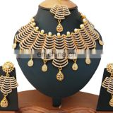 INDIAN LATEST BOLLYWOOD WHOLESALE ROYAL INSPIRED KUNDAN BEADED STONE BRIDAL JEWELLERY/JEWELRY NECKLACE SET EARRINGS
