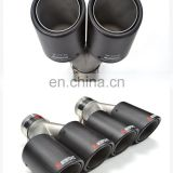 custom akrapovic exhaust dual carbon fiber exhaust muffler pipe/muffler tips