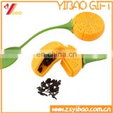 Food grade lemon shaped silicone tea infusers/silicone tea bags