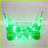 2014 Promotional Green Martian Light Up Funky Glasses