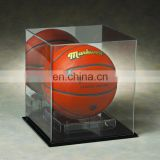 Fashion clear PMMA basketball display box plexiglass basketball display case acrylic basketball box