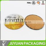 wholesale round shape tin table coaster cork tin boxes