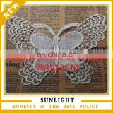 New wholesale white cotton lace embroidery butterfly applique