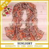 Fancy Stock New Style Flower Printed Polyester Scarf