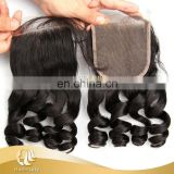 "Unprocessed cheap human hair full lace closure , 12""-32"" 100 % brazilian loose wave virgin hair"