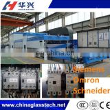 Tunnel Ceramic Rollers Radiation Heating Bent Tempering Glass Kiln