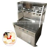 2018 hot sale one pan with 3 buckets fried ice cream machine