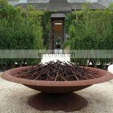 Outdoor rust corten steel bowl bbq brazier fire pits