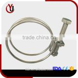 Can be customized double wire type pipe clamp, Hose clamps