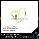 Hot new products for 2016 925 silver jewelry without stones open simple gold finger ring