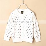 Lovely Heart Pattern Children Autumn Girls Cardigan