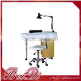 wood Nail table for nail salon furniture table,Double extended manicure table