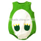 100%cotton jumpsuit newborn baby summer sleeveless green infant romper ,frog baby boy one- piece clothes baby cloth set
