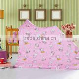 100%cotton 132TC pigment printed cartoon pink design for Gilrl baby bed sheet sets.