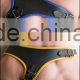 MENS GLADIATOR HARNESS WITH CONTRASTING TRIM GENUINE LEATHER