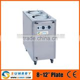 Mobile plate warmer 2 holder hot plate cup warmer power 800w hot plate warmer for CE (SY-PW770B SUNRRY)