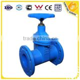 DIN F5 PN16 cast iron resilient Non-rising stem rubber seal gate valves