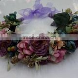 HL015 New artificial flower crown/tiara flower crown/wedding flower crown wreath headband flower