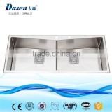 Modern double bowl used commercial stainless steel kitchen sink with faucet                                                                                                         Supplier's Choice