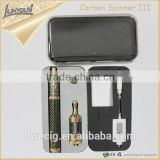 2015 Wholesalers Distributors spinner3 vision ecig variable voltage 1600mAh vision starter kit carbon spinner 3