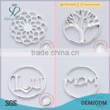 alloy steel window plate floating locket charms plate