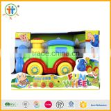 Kids plastics mini cartoon train toy battery operated vehicle