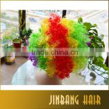 2016 Alibaba New Products Wholesale Jinbang Hair Factory Direct Fans Wig Curly Blonde Cheap Synthetic Cosplay Wig