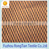 Cheap price blue 100 polyester tricot diamond mesh fabric