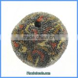 Wholesale Hot Sale Indonesia Round Colorful Resin Nugget Beads PCB-M100570