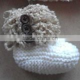New Handmade Crochet Fluffy Baby's Booties
