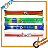Country Flag Printing or Custom Logo Design Inflatable Thunder Cheering Stick on Sport Game Cheering