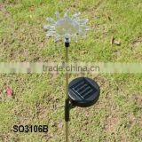 Glass sunflower solar garden stake light SO30106B