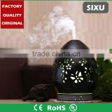 LED light decorative mini humidifier quartz fan heater carved flower ceramic fragrance diffuser