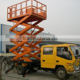 Used home garage car scissor lift dump truck mounted for sale