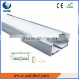1 meter/pc Waterproof Cover LED Aluminum Profile for Rigid LED Strip Bar Light with End Mounts