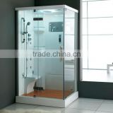 FC-115 factory temper fashional glass steam shower room europe market steam shower room one person steam sauna room
