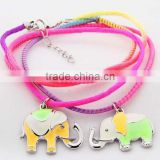 fashion high quality ultraviolet light change color and light in the dark elephant charm bracelet