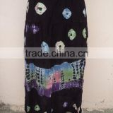 2015 India best sanganeri tie & dye printed partywear girls long skirts / 100% viscose fabric skirts