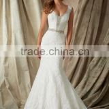 (MY1327) Wedding Gown Mermaid V-neck Sleeveless Lace Wedding Dresses Turkey Istanbul
