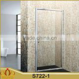 satin aluminium alloy profile bathroom sliding shower door with side panel