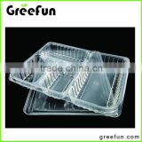 Resuable 4 Compartment Food Container With Lid , Disposable Lunch Box Container , Stock Stackable Bento Box Microwave Restaurant
